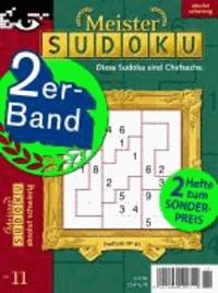 Doppelband Meister-Sudoku, Nr. 11 - Schwierigkeitsgrad: mittel/schwer.