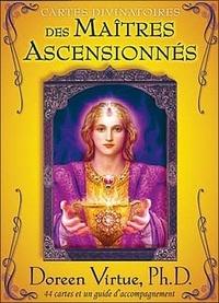 Doreen Virtue - Cartes divinatoires des maîtres ascensionnés - 44 cartes et un guide d'accompagnement.