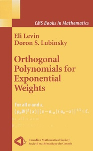 Doron-S Lubinsky et Eli Levin - Orthogonal Polynomials for Exponential Weights.