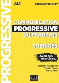 Deedr.fr Communication progressive débutant complet NC - Corrigés débutant complet A1.1 avec 350 exercices Image