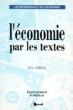 Dov Zérah - L'économie par les textes.