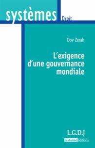 Dov Zérah - L'exigence d'une gouvernance mondiale.