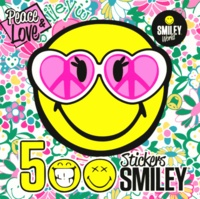 Dragon d'or - 500 stickers Smiley Peace & Love.