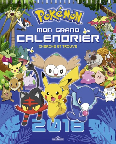 Calendrier De Lavent Pokemon 2020.Mon Grand Calendrier Cherche Et Trouve Pokemon Grand Format
