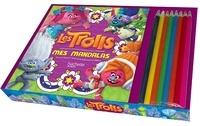 DreamWorks - Les Trolls Mes mandalas - 1 bloc de mandallas Trolls et 8 crayons de couleur.