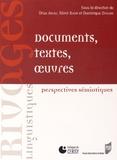 Driss Ablali et Sémir Badir - Documents, textes, oeuvres - Perspectives sémiotiques.