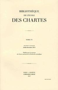 Frédéric Duval et Georges Declercq - Bibliothèque de l'Ecole des Chartes N° 171, Seconde livr : .