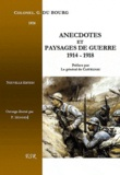 Du Bourg - Anecdotes et paysages de guerre 1914-1918.
