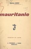 Duboc et H. Claudel - Mauritanie.
