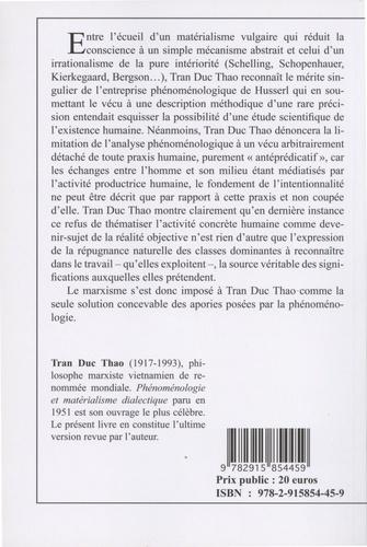 De Husserl à Marx. Phénoménologie et matérialisme dialectique