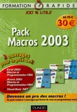 Dunod - Pack Macros 2003 - 3 volumes.