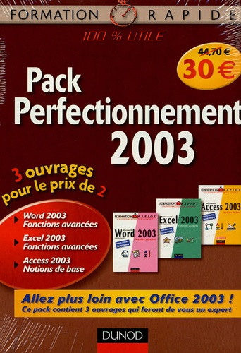 Dunod - Pack Perfectionnement 2003 - 3 volumes.