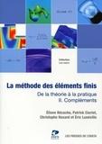 E. Bécache et Patrick Ciarlet - La méthode des éléments finis : de la théorie à la critique - Volume 2 : compléments.