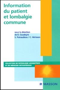 E. Coudeyre et S. Poiraudeau - .