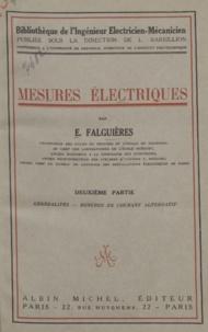 E. Falguières et Louis Barbillion - Mesures électriques.