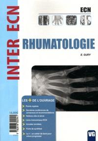 E. Gury - Rhumatologie.