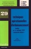 E Maurel et D Roux - Techniques opérationnelles d'ordonnancement.
