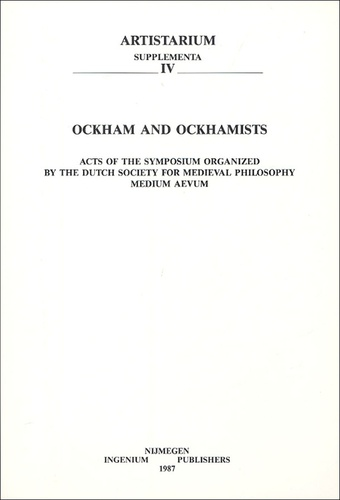 E-P Bos - Ockham and Ockhamists.