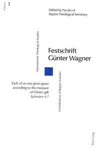 Earl Martin - Festschrift Günter Wagner.