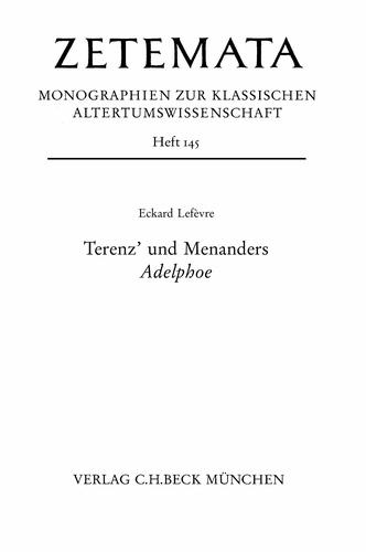 Terenz' und Menanders Adelphoe