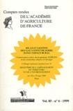 Georges Pédro - Comptes rendus de l'Académie d'Agriculture de France Volume 85 N° 6/1999 : Bilan et gestion des gaz à effet de serre dans l'espace rural.