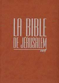 Ecole biblique de Jérusalem - La Bible de Jérusalem - Edition compacte intégrale fauve.