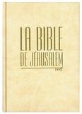 Ecole biblique de Jérusalem - La Bible de Jérusalem - Compacte reliée blanche, tranche dorée.