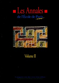 Ecole de Paris du management - Les Annales de l'Ecole de Paris du management - Volume 2, Travaux de l'année 1995.