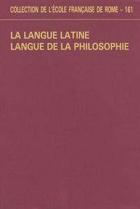 Ecole Française de Rome - La langue latine, langue de la philosophie.