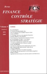 Pascal Barneto et Laurent Batsch - Finance Contrôle Stratégie Volume 6 N° 2 juin 2 : .
