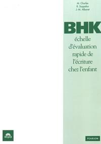 Maët Charles et Régis Soppelsa - BHK échelle d'évaluation rapide de l'écriture chez l'enfant - Test complet : le manuel, 25 feuilles de correction, une grille de correction et une fiche de lecture plastifiée.