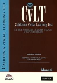 Dean Delis - CVLT California Verbal Learning Test - Matériel complet : manuel et 25 cahiers de passation.