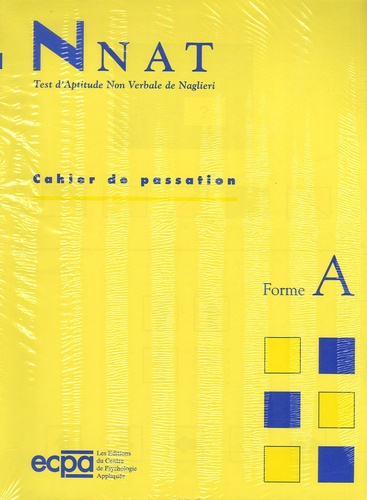 Jack A. Naglieri - NNAT Test d'aptitude non verbale de Naglieri - Cahier de passation et de réponses de la Forme A (GSM) : 5 ans, le paquet de 25.