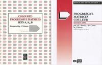 J-C Raven - Progressive matrices couleur - Matériel complet avec manuel, sets et feuilles de réponses.