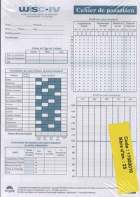 WISC-IV Echelle dintelligence de Wechsler pour enfants - Cahier de passassion, 25 exemplaires.pdf