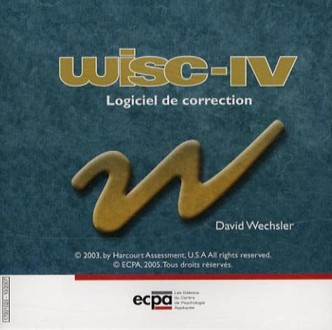 David Wechsler - WISC-IV Echelle d'intelligence de Weschler pour enfants et adolescents - CD-ROM de corrections illimitées. 1 Cédérom