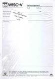 ECPA - WISC-V Cahier de réponses 1 - Cahier symboles & codes (25 exemplaires).