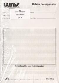 ECPA - WNV échelle non verbale d'intelligence de Wechsler - Cahier de réponses (25 exemplaires).