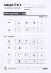 ECPA - WPPSI-III - Cahier de symboles - 25 exemplaires.