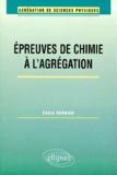 Eddie Verrier - Les épreuves de chimie à l'agrégation.