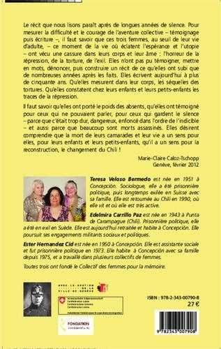 Les murs du silence. Récit de trois femmes chiliennes, violence, identité, mémoire