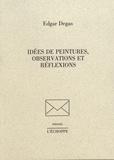 Edgar Degas - Idées de peintures, observations et réflexions.