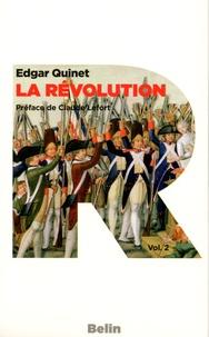 Edgar Quinet - La révolution - Coffret 2 volumes.