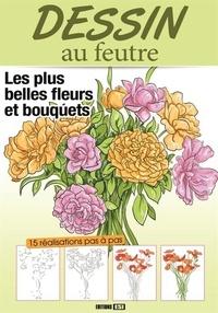 Edigo - Dessin au feutre - Superbes fleurs et bouquets.