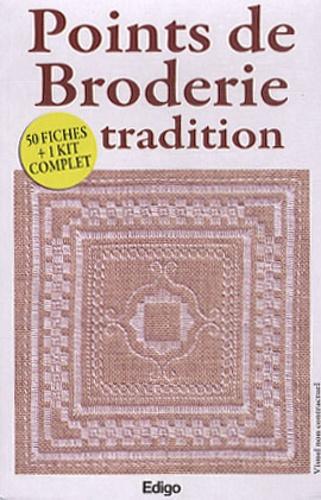 Edigo - Points de Broderie tradition - 50 fiches + 1 kit complet.