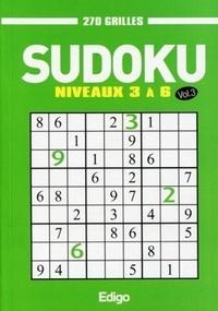 Edigo - Sudoku 270 grilles - Niveaux 3 à 6 Volume 3.