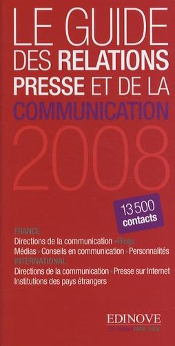 Edinove - Le guide des relations presse et de la communication 2008.