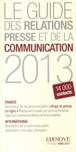Edinove - Le guide des relations presse et de la communication 2013.