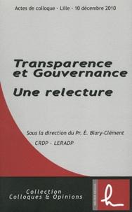 Edith Blary-Clément - Transparence et Gouvernance - Une relecture.