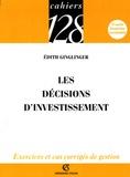 Edith Ginglinger - Les décisions d'investissement.
